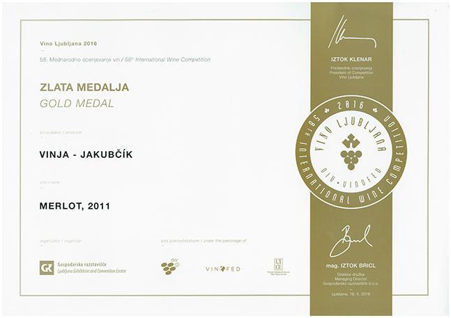Jakubčík - Zlatá medaile